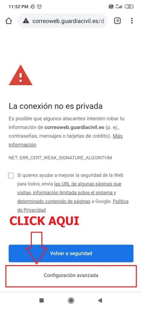 Instrucciones para entrar correo corporativo guardia civil
