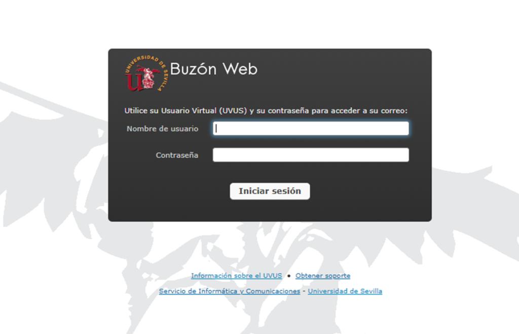 Correo corporativo buzonweb US es Universidad de Sevilla España