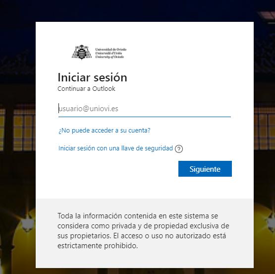 correo corporativo UNIOVI - Webmail Outlook UNIOVI