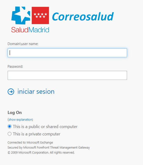 entrar correo sermas Servicio Madrileño de Salud