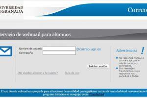 Entrar al Correo UGR (Universidad de Granada)