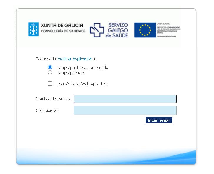 ingresar al correo sergas