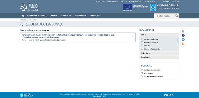 solicitar el registro en el correo sergas